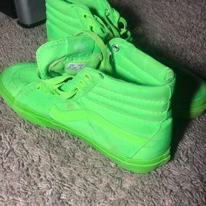 Vans neon green shoes